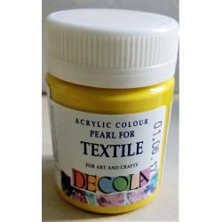 Barva na textil, Žlutá perleťová, Decola, 50 ml