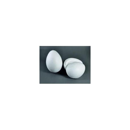 Polystyrenové vejce dvoudílné, 15,5x11 cm