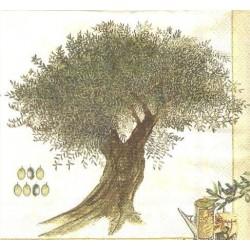 Ubrousek olivový strom 33x33 cm