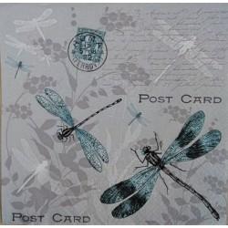Ubrouse, Vážky, písmo, post card