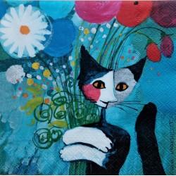 Ubrousek, Kočka s květinami