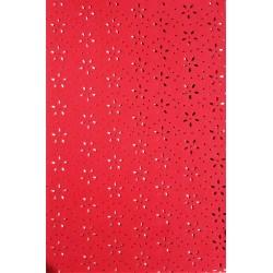 Pěnovka, Moosgummi s výsekem kytiček, Červená, A4