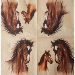 Ubrousek koně 33x33 cm