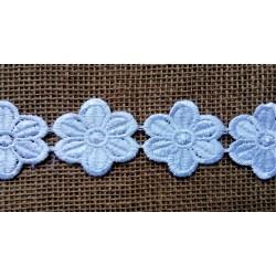 Krajka bílá, kytičky o průměru 5 cm, 1m