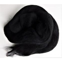 Ovčí rouno česané, Merino, černá, 20 g