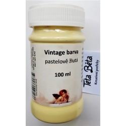 Barva Vintage, křídová, žlutá pastelová, 100 ml