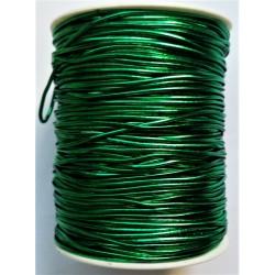 Gumička, pruženka, zelená metalická, 1 mm