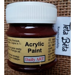 Akrylová barva matná, čokoládová, 50 ml