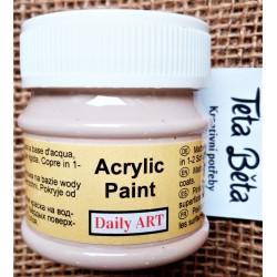 Akrylová barva matná, kapučínová, 50 ml
