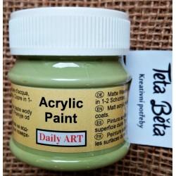 Akrylová barva matná, pistáciová, 50 ml