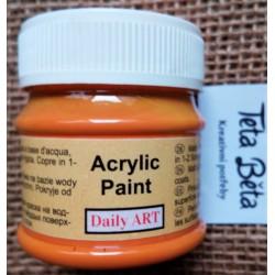 Akrylová barva matná, dýňová, 50 ml