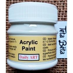 Akrylová barva matná, bílá, 50 ml