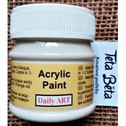 Akrylová barva matná, smetanová, 50 ml