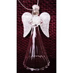 Anděl skleněný, výška 9 cm