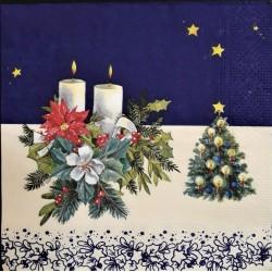Ubrousek, Vánoční motiv se svíčkami