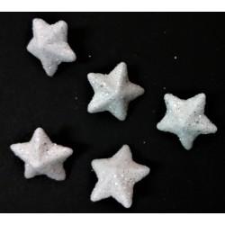 Polystyrenová hvězda, přízdoba s glitry, 1 cm