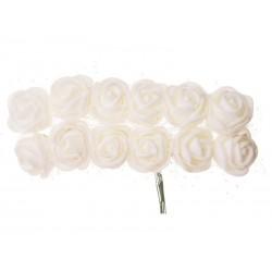 Růžičky pěnové  na drátku  průměr 2 cm
