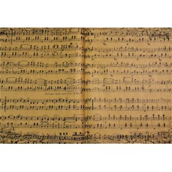 Papír balící, Noty, 50 x 74 cm