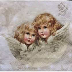 Ubrousek, Vánoční andílci, 33 x 33 cm