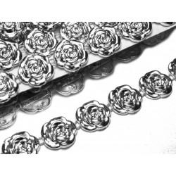 Borta  plastová stříbrná,  růže