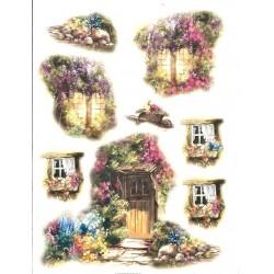 Rýžový papír, Květinová okénka, A4