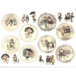 Rýžový papír, Děti v kabátcích, A4