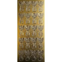 Obrysové kontury, Andílci, zlatá barva, na archu 20 ks