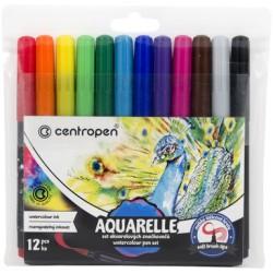 Akvarelové značkovače, sada, 12 ks, Centropen