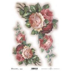 Rýžový papír Růže do rohu