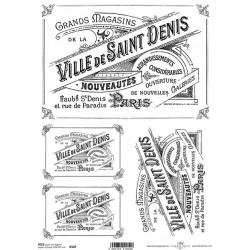 Rýžový papír Nápisy Ville de Saint Denis