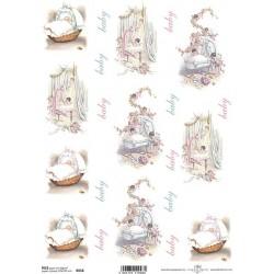 Rýžový papír Děťátka v kolíbkách