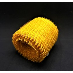 Juta, stuha, žlutá, 3 m 4 cm