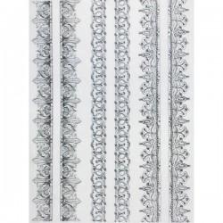 Rýžový papír A4 Bordury barokní 21x29,7 cm