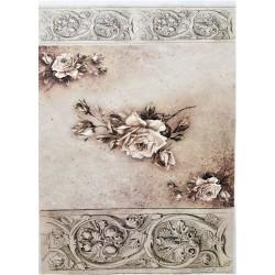Rýžový papír, Vintage růže, A4