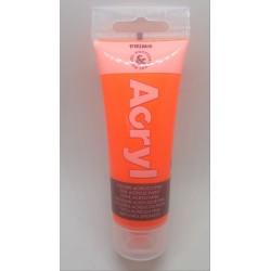 Akrylová barva, Oranžová fluorescenční, 75 ml