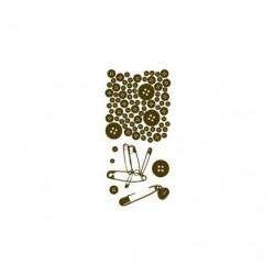 Gelová razítka, Knoflíky, špendlíky, sada 7 kusů