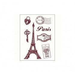 Gelová razítka, Paříž, pošta, sada 7 kusů