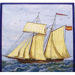 Ubrousek plachetnice na moři 33x33 cm