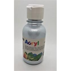 Akrylová barva, Stříbrná metalická, 125 ml