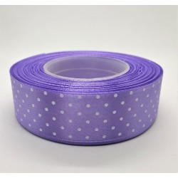 Stuha puntíkatá fialková šířka 2,5 cm