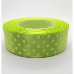 Stuha saténová limetkově zelená šířka 2,5 cm