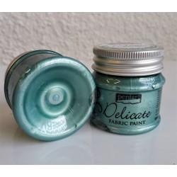 Barva na textil metalická Delicate zelenostříbrná 50 ml Pentart