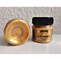 Barva akrylová metalická Glamour zlatá 50 ml