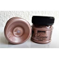 Akrylová barva metalická Delicate růžové zlato 50 ml