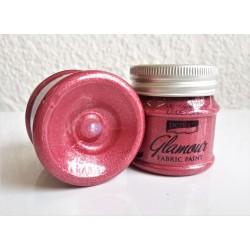 Barva na textil Glamour metalická růžově stříbrná 50 ml