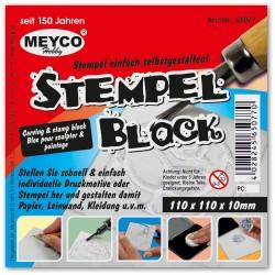 Blok na vyřezávání razítek 11 x 11 x 10 mm