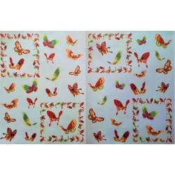 Dekupážní papír Motýlci 33 x 48 cm