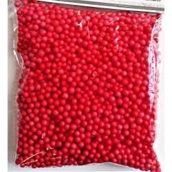 Polystyrenové kuličky červené 4-6 mm 8 g