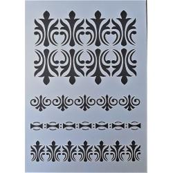 Šablona plastová Vintage ornamenty A5