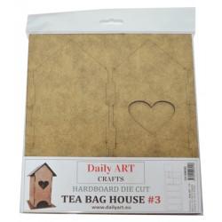 Domeček na čajové sáčky 23 cm x 9 cm se srdíčkem